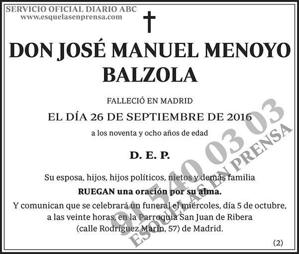 José Manuel Menoyo Balzola